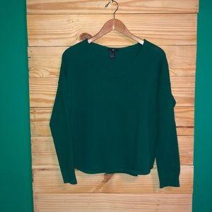 GAP Green V Neck Soft Knitted Sweater Bright Cute